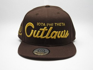 "IOTA PHI THETA ""OUTLAWS"" SCRIPT SNAP BACK / INVICTUS x FLAT FITTY"
